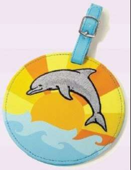 Luggage Tags x 2 - Dolphin Design