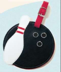 Luggage Tags x 2 - Bowling Design